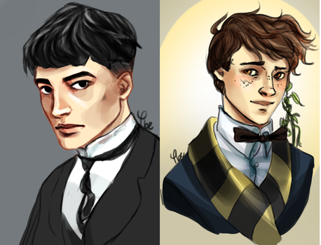 Credence and Newt by phy-be