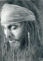 Portrait of Jack Sparrow by 13SweetYuna13