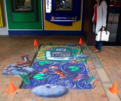 BNZ 3D pavement art commission by CptMunta