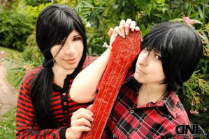 ::marceline and marshall lee:: by AkiraCosplay