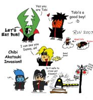 The Chibi Akatsuki Invasion 1 by BloodlustBakura