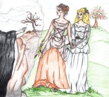 Demeter And Persephone by LaFoi