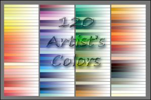 120 Artist's Colors by DeepBlueDesign