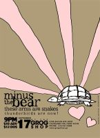 Minus the Bear Poster by mylkhead