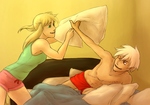 Pillow Fight by Night-of-Void
