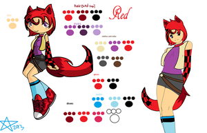 Red the Demon wolf(my oc :3) by Kaybug2K