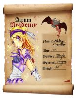 Atrum Academy Student App- Adeline Chevalier by dogstitch