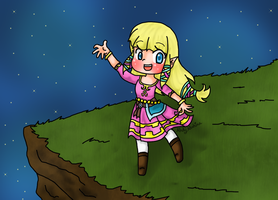 Skyward Sword - Chibi Zelda by iZelda27