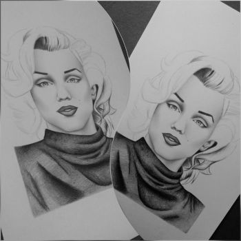Marilyn Monroe - WIP by AndyVRenditions
