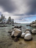 Lake Tahoe East Shore snowy140330-27 by MartinGollery