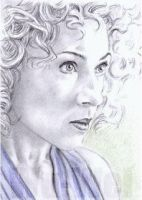 Alex Kingston mini-portrait by whu-wei