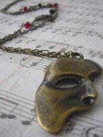 Erik's mask necklace by LKJSlain