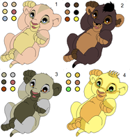 Lion Cub Adoptables~ 2pts by ChastityRose