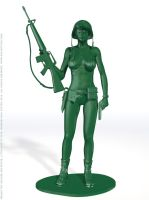 Female Toy Soldier Prototype 1 by BlackSheepArt