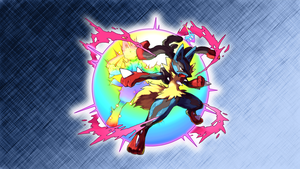 Mega Lucario Wallpaper by Glench