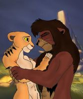 Kovu and kiara lion king 2 by K-o-v-u
