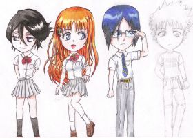 Bleach chibi - set 4 by yuukii-chan