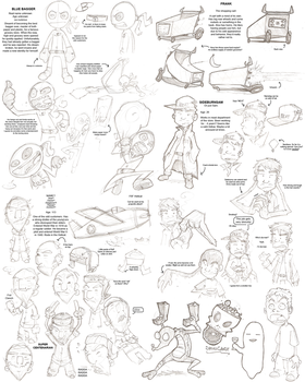 Character Sketches by Gabe27C