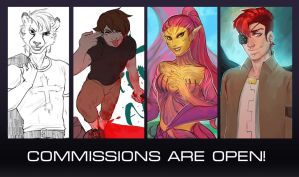 Commissions are open! by MelamoryBlack