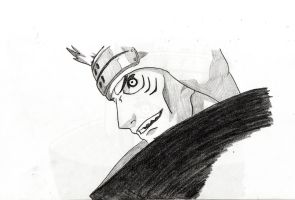 Kisame sketch 2 by TheFlyingPug