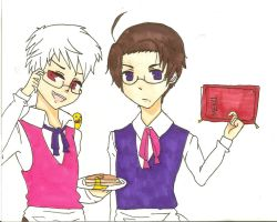 APH Prussia and Austria - Order Up! by NekoNyah-sensei