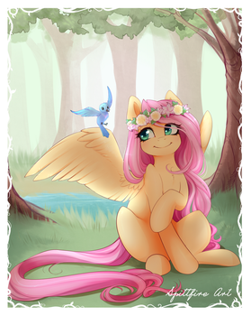 Yellow Quiet Time by spittfireart