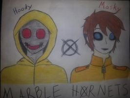Masky and Hoody by HylianHeartless