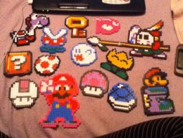 My Mario Perler Bead Collection by Rockerchick676