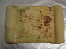 Middle Earth map cake by recycledrapunzel