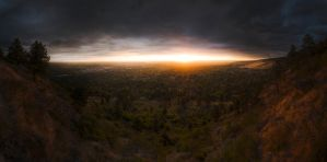 Boulder Fall Sunrise from Flag by Rafg