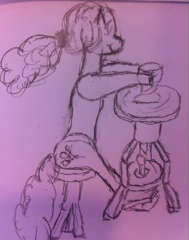 WIP - Pinkie Pay working on Clay by Chron1