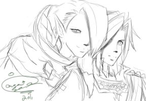 Ghirahim and Link by Onigami-Sama