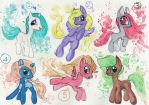 Water Color MLP FREE Adopts! (CLOSED) by ProjectBlastArt
