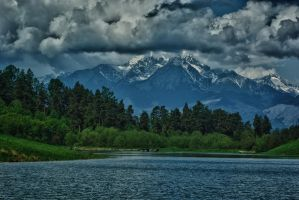 Lake under the mountains by minko2312