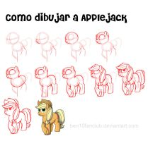How to draw ponies-AppleJack by CommyPink