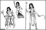 Koma - Sketches for Shann'Ra by susomi