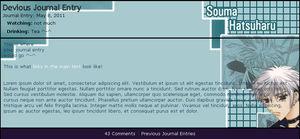 Hatsuharu Journal Skin by Fyi-Sus