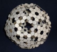 Truncated Icosahedron 2013 (paper) by albertpcarpenter