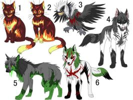 Halloween Adoptables GONE by Kasara-Designs
