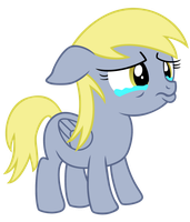 Filly Derpy Crying by Ellittest