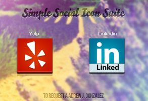 Simple Social Icon Suite by Schulerr