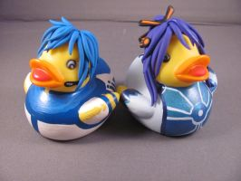 Kaito and Gakupo Ducks by spongekitty