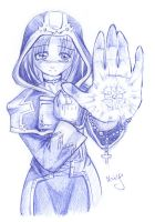 The White Mage - ballpoint by Dalehan