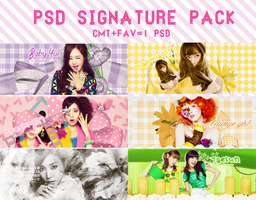 [PSD SIGNATURE PACK] by SunnieSoShiVN