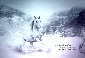 White horse By Daniyal061 by Danial061