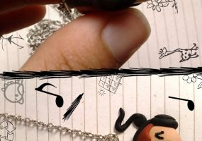 Sketchy Music Necklace by kittykatklub1