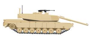 Still vector of my Abrams tank by Peskywaabbit
