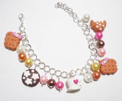 Fimo bracelet with sweeties by Shizuru117