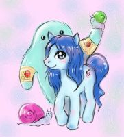 My little pony, water Elemental and snails by Klodia13