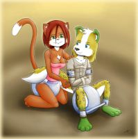 Steve and Cat by The-Padded-Room